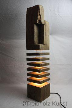 Driftwood old wood design lamp - www.- Treibholz Altholz Designlampe – www.treibholz-bod… – Designerlampe indirekte B… Driftwood old wood design lamp – www. Indirect Lighting, Wood Lamps, Old Wood, Diy Wood Projects, Lampshades, Wood Design, Lighting Design, Lighting Ideas, Wood Art