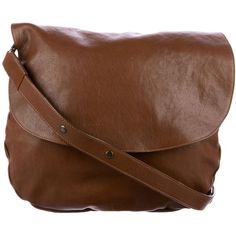 Pre-owned Gerard Darel Leather Messenger Bag ($275) ❤ liked on Polyvore featuring bags, messenger bags, brown, genuine leather messenger bag, leather messenger bag, leather foldover bag and brown leather messenger bag