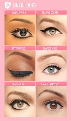 How to make your eyeliner stay on all day? Eyeliner is one of the essential items that should be in your makeup bag as it works in conjunction with your mascara to create large, beautiful eyes that st. Eye Makeup Tips, Skin Makeup, Beauty Makeup, Makeup Hacks, Makeup Geek, Eyeliner Makeup, Round Eye Makeup, Makeup Tips And Tricks, Makeup Ideas