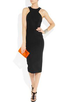 VICTORIA BECKHAM  Stretch-crepe cutaway dress