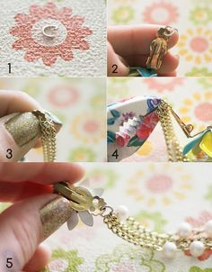 DIY Sweater Clips - use old clip earrings and necklaces