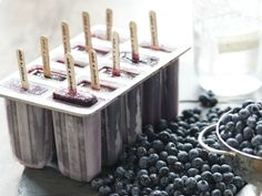 Homemade blueberry moonshine ice pops #popsicle #recipe #chillout