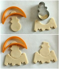 Silly Spider and Bat Cookies