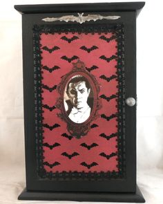 Gothic Home Decor - Vampire themed cabinet by NacreousAlchemy