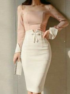 outfit nightclub Open Shoulder Patchwork Plain Roll-Up Sleeve Bodycon Dresses Offene Schulter Patchwork Plain Roll-Up Sleeve Bodycon Kleider Pencil Skirt Outfits, High Waisted Pencil Skirt, Pencil Skirts, Bandage Skirt, Women's Skirts, Pencil Dresses, Work Skirts, Mini Skirts, Boho Dress