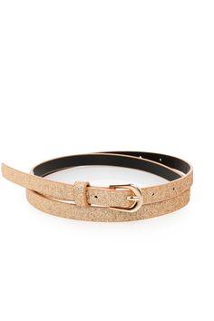 Gold Sparkle Skinny Belt / ShopSosie #gold #sparkle #skinny #belt #accessories #glittery #shopsosie