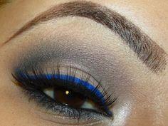 Loving the blue eyeliner trend... it always makes my brown eyes pop.