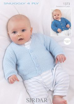 Photos of free knitting patterns for babies cardigans 4 ply moss and garter stitch cardigans in sirdar snuggly 4 ply - 1373 PYFCTIJ Baby Boy Knitting Patterns Free, Sirdar Knitting Patterns, Baby Sweater Patterns, Baby Sweater Knitting Pattern, Baby Patterns, Free Knitting, Dress Patterns, Baby Boy Cardigan, Knitted Baby Cardigan
