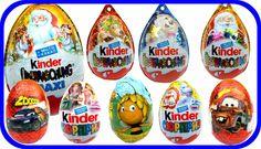 30 Киндер Сюрпризов смотреть онлайн Рождественская серия в шоколадных яй...
