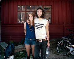 Musicians from Sweden on their first time visit to Christiania, Copenhagen, 2009 — from the series Christiana. Photo by Maja Daniels