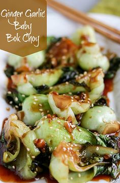 Ginger Garlic Baby Bok Choy by Karyl's Kulinary Krusade Baby Bock Choy Recipes, Bok Choy Recipes, Best Baby Bok Choy Recipe, Best Vegetable Recipes, Vegetarian Recipes, Cooking Recipes, Healthy Recipes, Oven Recipes, Dinner Recipes