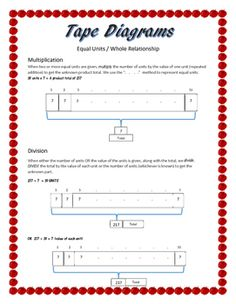 6RP3  Solve Word Problems Using    Tape       Diagrams      Math Ideas   Word problems  Ratios