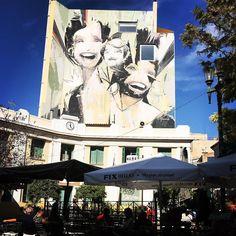 A little bit of street art in the heart of Athens.. Victory  Mayhem loves stumbling into free creative expression. #victoryandmayhem #graffitiart #streetart #grafitiwall #streetartathens #athensstreetart #love #creativelife