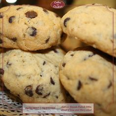 Chocolate Chip Cookies #cakesandcookieslb #cakes #cookies #dessert #tasty #treats #design #delicious #sweet #chocolate