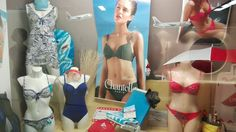 Laluna Dessous storefront in Grossostheim, Germany, showcasing swimwear made with LYCRA® fiber. Take off with LYCRA® fiber!