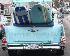 California Dreamin' Retro Station Wagon Surf Board
