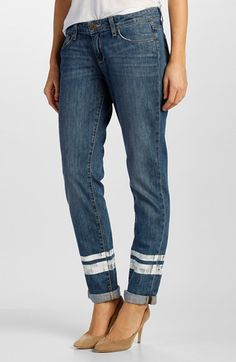 Paige Denim 'Jimmy Jimmy' Boyfriend Jeans (Painted Stripe) available at #Nordstrom