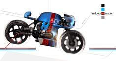 "BMW Cafe Racer design ""LEBOXEUR"" - Red Pencil Propeller #motorcycles #caferacer #motos | caferacerpasion.com"