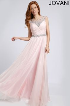 Crystal Embellished Prom Gown 98529
