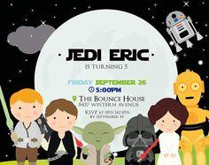 PRINTABLE Star Wars Birthday invitation digital por PartyPopPrints