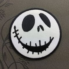 Halloween patch Skeleton Jack patch Punk Patches Individuality Embroidered Iron-On Patches sew on patches