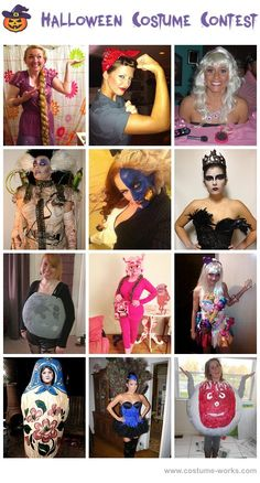 Homemade Halloween costumes -- some of these are downright weird and creepy, and I don't even know what some of them are.  Peacock is cute though, and I like the Black Swan costume.  Somebody tell me what some of the others are!