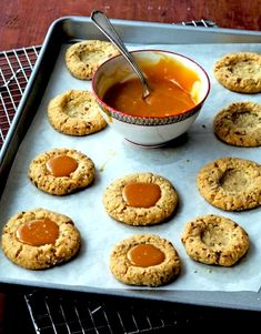 Nutty Caramel Thumbprint Cookies Recipes — Dishmaps