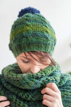 hat knit pom pom womens beanie winter hats omber hat by bandabag