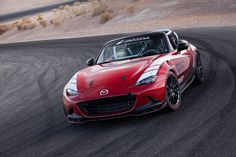 The official 2016 MX-5 Global Cup Car Front 3/4  @mazdausa