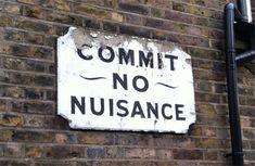 British Scolding sign, Great Guildford Street, Southwark, London