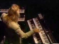 Rick Wakeman Keyboard Solo. One of the most amazing piano solos you'll ever see by Rick Wakeman...in my opinion, one of the greatest keyboard players ever....he has mastered so many different genre of music. He began with a band called the Strawbs and then joined Yes where his fame flourished. He has a vast output of solo music (I have about 60+ of his cds). You will be amazed by his talent.
