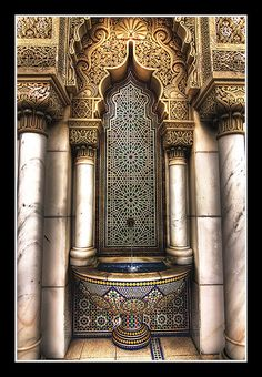 Take a look at these Moroccan Interior Design Ideas for inspiration. Moroccan style living room furniture suggestions that will create an authentic Moroccan feel. Mosque Architecture, Indian Architecture, Amazing Architecture, Architecture Details, Interior Architecture, Moroccan Design, Moroccan Style, Morrocan Decor, Moroccan Interiors