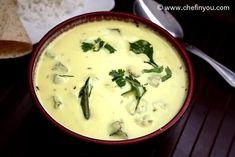 Bhindi Kadhi (Yogurt Stew with Okra) North Indian Recipes, South Indian Food, Indian Food Recipes, Okra Recipes, Easy Rice Recipes, Cooking Recipes, Vegetarian Curry, Vegetarian Recipes, Ital Food