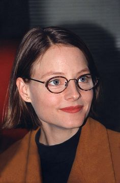 Jodie Foster wearing glasses