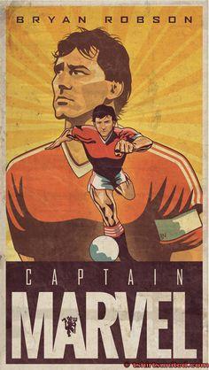 Bryan Robson: Captain Marvel T-Shirt
