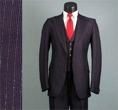 Vintage Mens Suit 1970s Deep Purple Pinstripe by jauntyrooster, $225.00