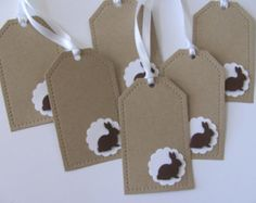 Schokolade Easter Bunny Geschenkanhänger von SassyScrapsCrafts