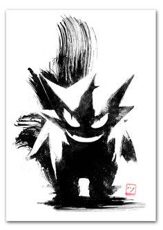 Shadow Pokémon / Pokemon - Gengar by AJ Hateley