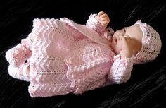 Girl's pdf Knitting Pattern 4 Pce Outfit in all by BlueButterflyUK