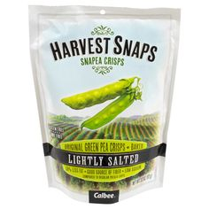Harvest Snaps Calbee Lightly Salted Original Green Pea Crips 3.3 oz
