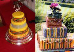 12 Unique and Stunning Ghanaian Traditional Wedding Cakes [Photos] - Coiffures De Mariage Wedding Cake Photos, White Wedding Cakes, Elegant Wedding Cakes, African Cake, African Theme, African Dress, Wedding Cake Decorations, Wedding Cake Toppers, African Wedding Cakes