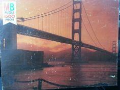 1978 Milton Bradley jigsaw puzzle 1500 piece Super Challenge Golden Gate Bridge