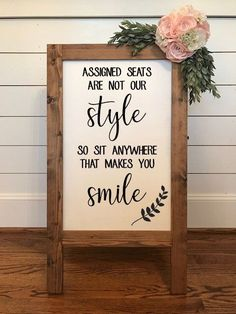 Assigned Seats are Not Our Style, No Seating Plan, Wedding Seating Sign I. - Assigned Seats are Not Our Style, No Seating Plan, Wedding Seating Sign I… – Wedding decorations - Wedding Seating Signs, Diy Wedding Signs, Diy Wedding Decorations, Wedding Sign In Ideas, Outdoor Wedding Seating, Different Wedding Ideas, Wedding Backdrops, Wedding Reception Signs, Wedding Venues