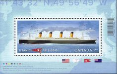 1912 - Titanic 100 years Anniversary – Souvenir Sheet - Stamps by theme, Canada Post Southampton England, Love Mail, Sell Stamps, Stamp Catalogue, First Day Covers, Rms Titanic, My Themes, Royal Mail, Stamp Collecting