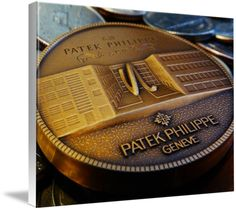 "Patek Philippe Geneve Commemorative Medal Coin $123 // Style: White Edge Canvas Print; Size: Large 24"" x 32"" // Visit http://www.imagekind.com/Patek-Philippe-Geneve-PPG_art?IMID=f3908c20-ea81-4cad-96a2-bcfab5a6a254 for product details."