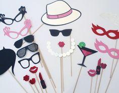 Fun & Flirty Photo Booth Props  Set of 30 by PAPERandPANCAKES,