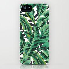 Tropical Glam Banana Leaf Print iPhone & iPod Case