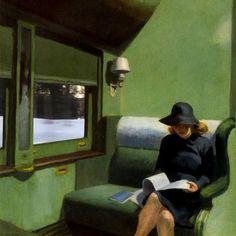 Compartment C, Car 193 - Edward Hopper Tutorial Zbrush, Edward Hopper Paintings, Art Public, Donia, Aesthetic Art, Collage Art, Art Inspo, Art History, Sculpture Art