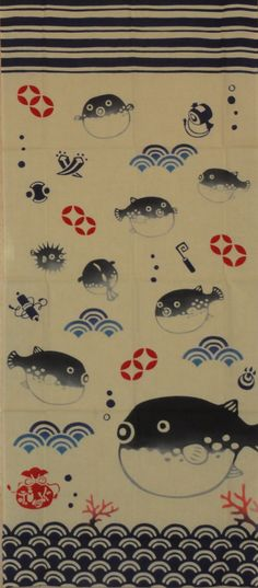 Hey, I found this really awesome Etsy listing at https://www.etsy.com/listing/156525471/tenugui-japanese-fabric-blowfish-wfree