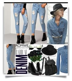 """""""Romwe"""" by suncokret-12 ❤ liked on Polyvore featuring Alima, Levi's, Boohoo and romwe"""